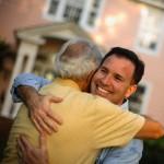Son Hugging Senior Father