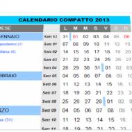 Calendario compatto 2013