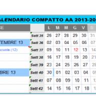Calendario scolastico stampabile 2013-2014